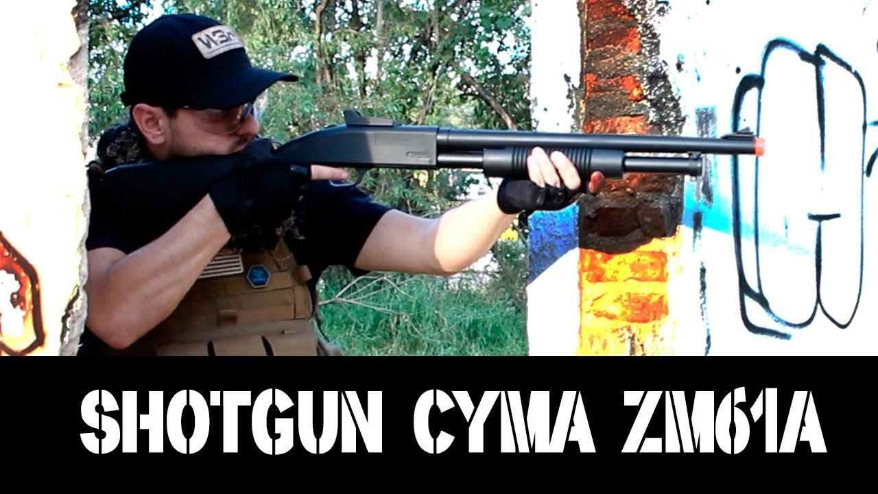 REVUE AIRSOFT SHOTGUN RESSORT ZM61A – CYMA – WARSOFT BRASIL