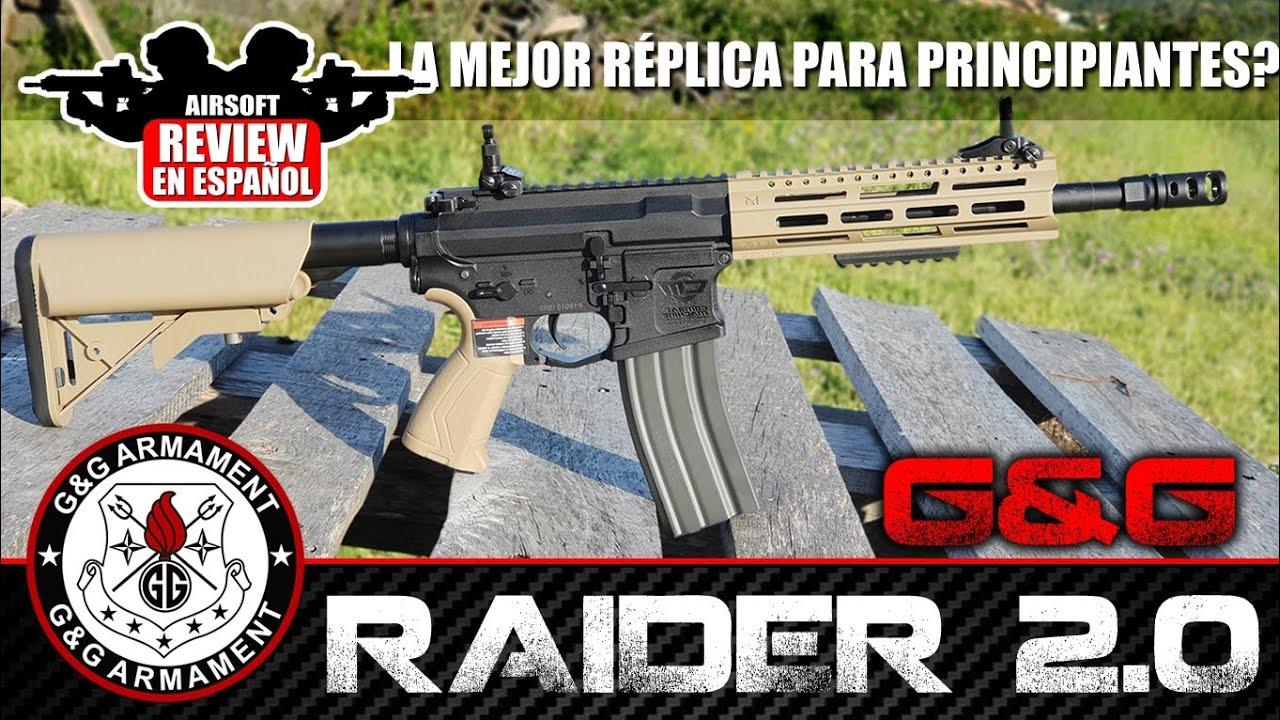 La meilleure réplique pour les débutants? 😕 G & G RAIDER 2.0 M4 | Revue Airsoft en espagnol (Test Shot)