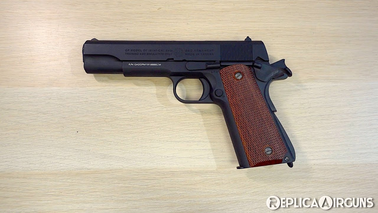 Revue de dessus de table de pistolet de Gs GPM1911 GBB Airsoft