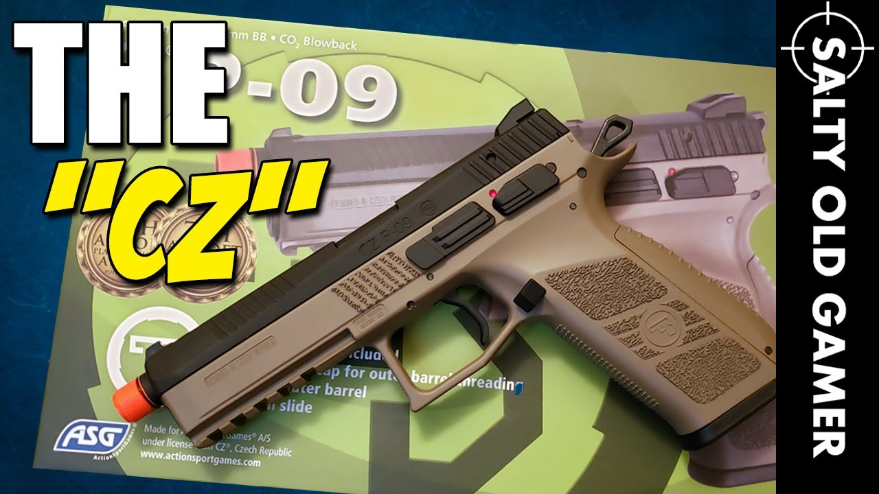 ASG CZ P-09 Airsoft Beast Full Frame   SaltyOldGamer Airsoft Review