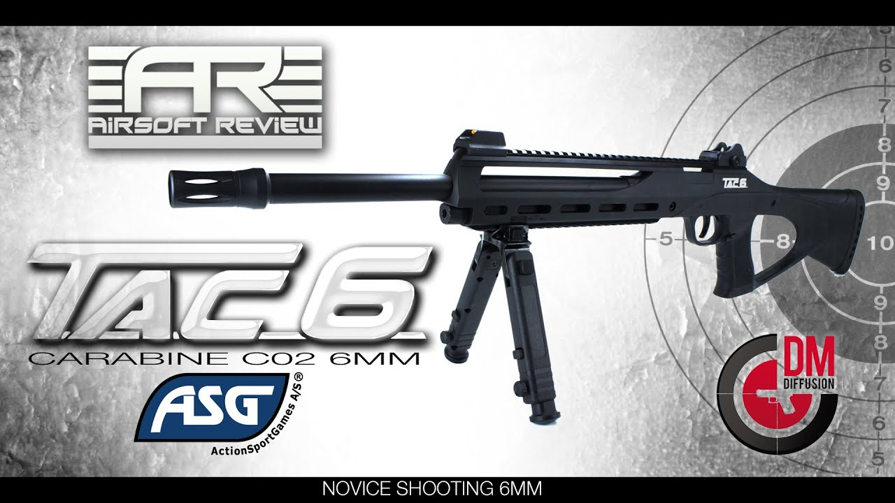 TAC 6 CARABINE CO2 ASG [ DM diffusion ] / AIRSOFT REVIEW