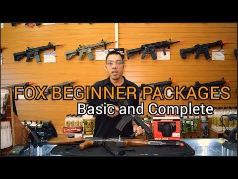 Les meilleurs forfaits débutants Airsoft Gun & Starter de Fox Airsoft