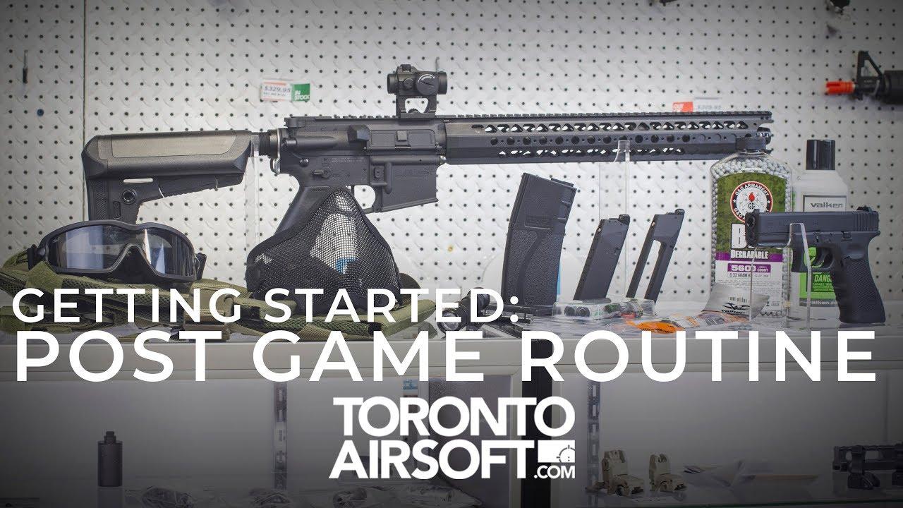 Ce que presque tout le monde oublie. Composez votre ROUTINE POST GAME – Toronto Airsoft.com