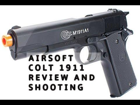 Colt M1911A1 ressort pistolet Airsoft examen et le tir
