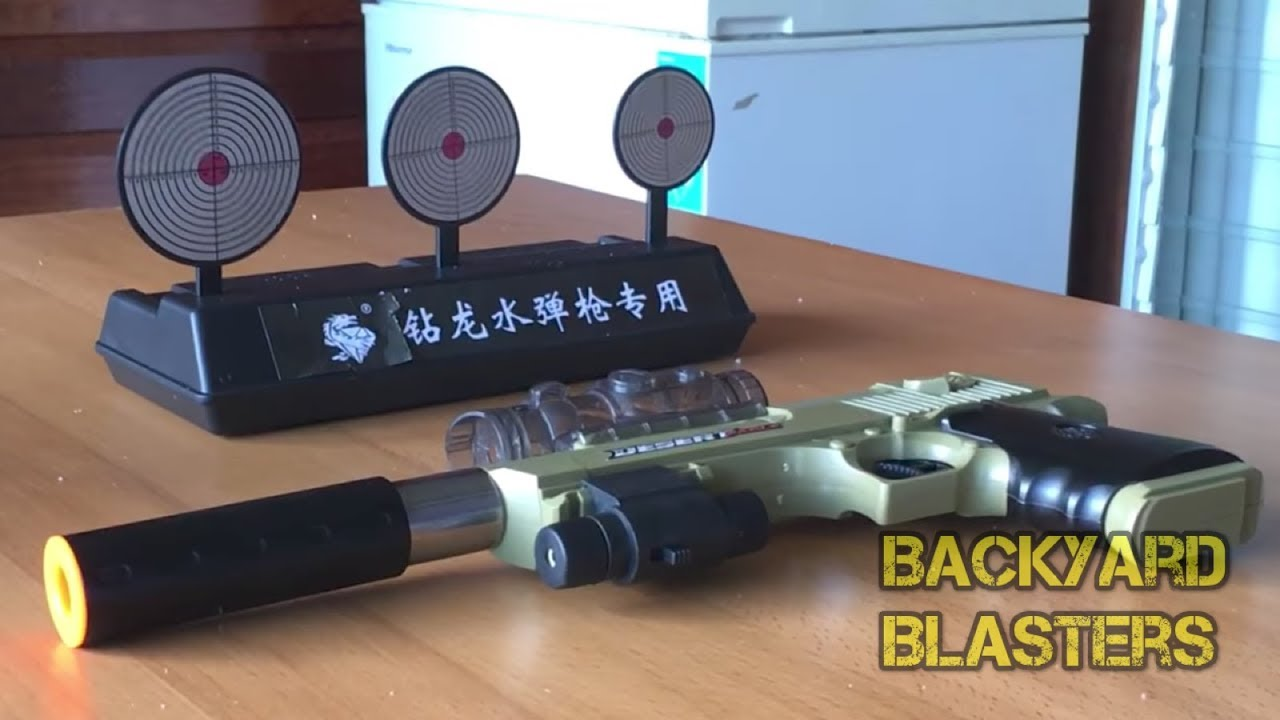 Cible de réinitialisation automatique pour pistolets à balles Nerf / Airsoft / BB / Gel