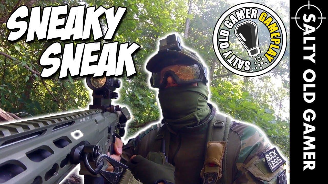 Se faufiler derrière les lignes ennemies! | SaltyOldGamer Airsoft Gameplay