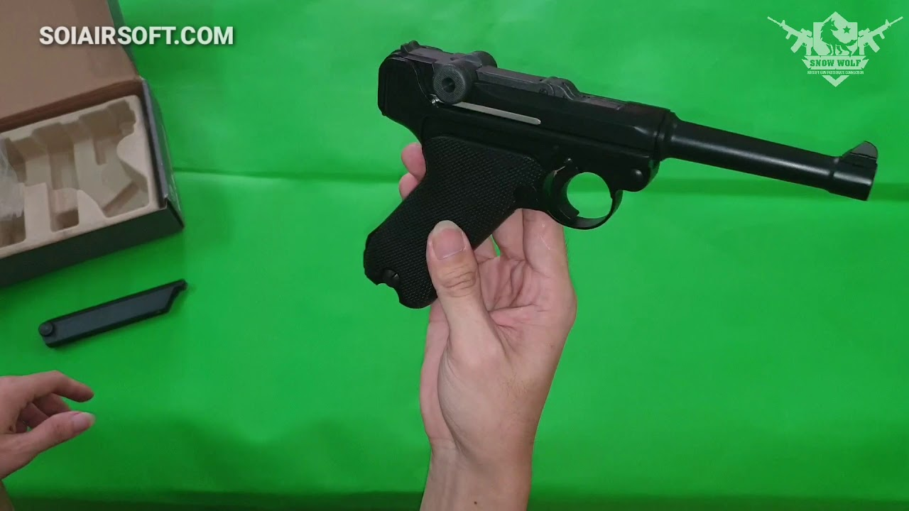 SOIAIRSOFT.COM – Luger P08 WWII We (Ancient Airsoft)