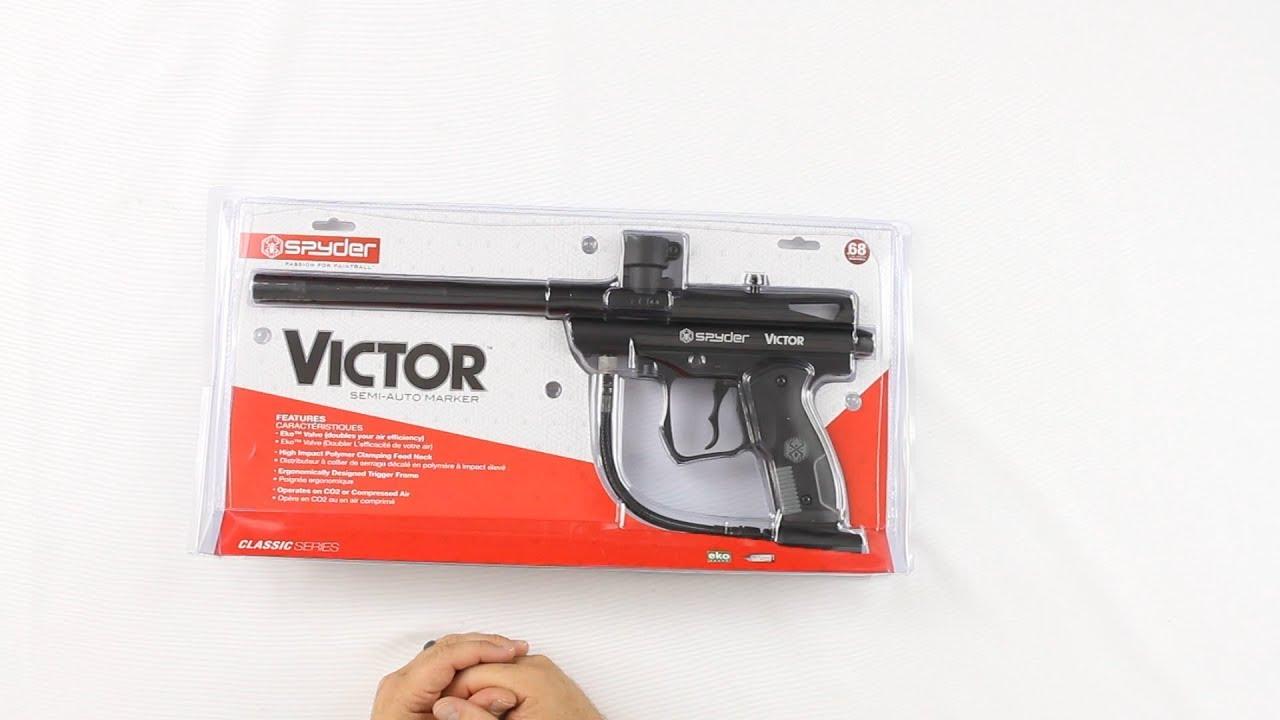 Pistolet de paintball semi-automatique Kingman Spyder Victor – Examen