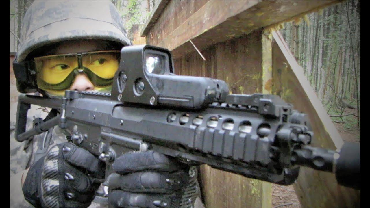 """Fusil d'assaut ACR de guerre Airsoft G36C """"Nomad Airsoft"""" Ecosse"""