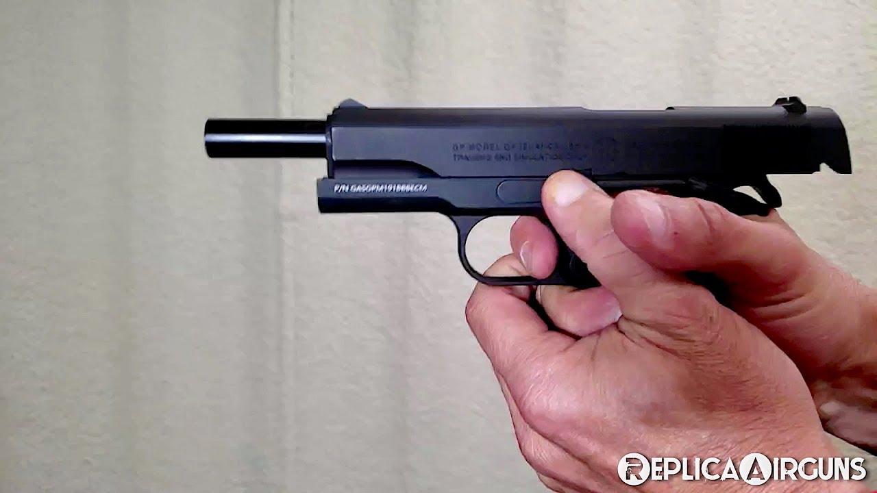 Examen du test sur le terrain du pistolet G & G GPM1911 GBB Airsoft