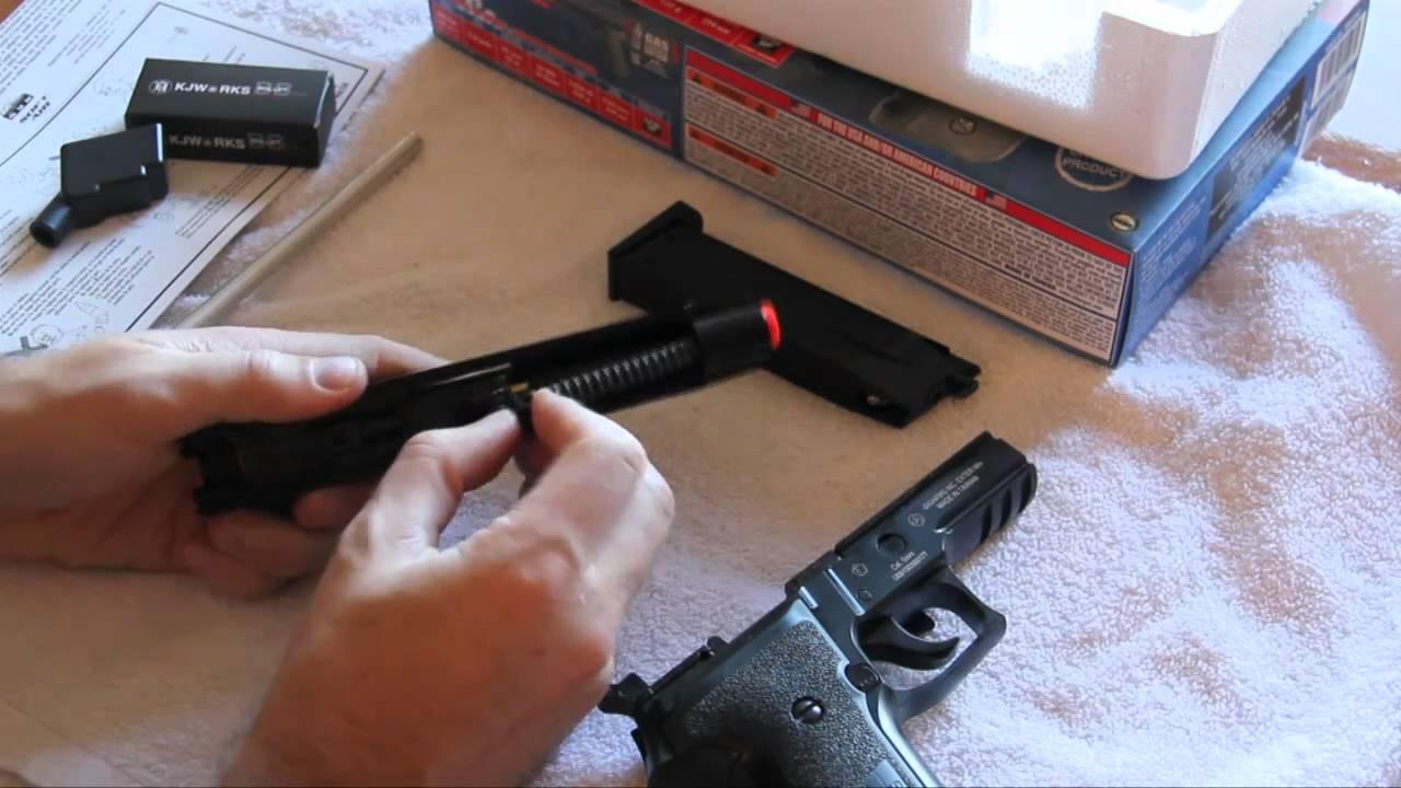 KJW P226 airsoft GBB pistolet examen