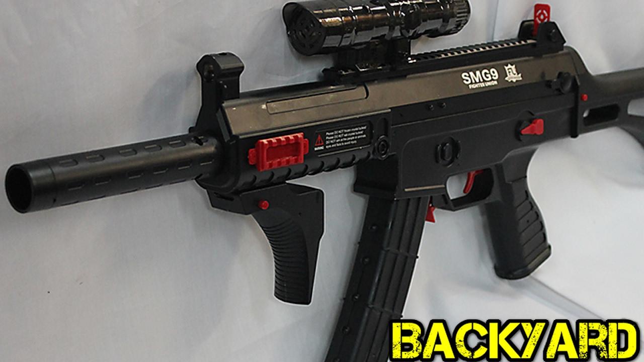 SMG9 Déclencheur et examen du tireur de balles gel et pistolet-jouet