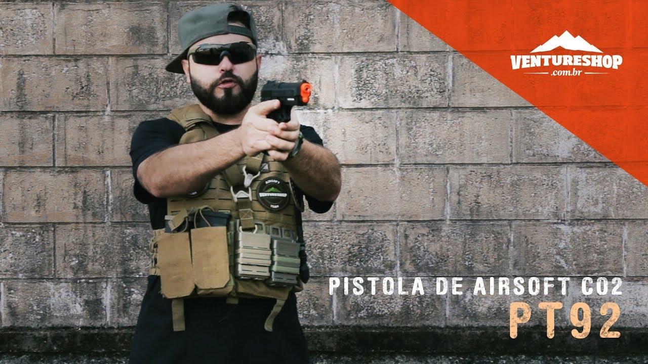 Test Cybergun PT92 CO2 Gas Airsoft Pistolet – VentureShop