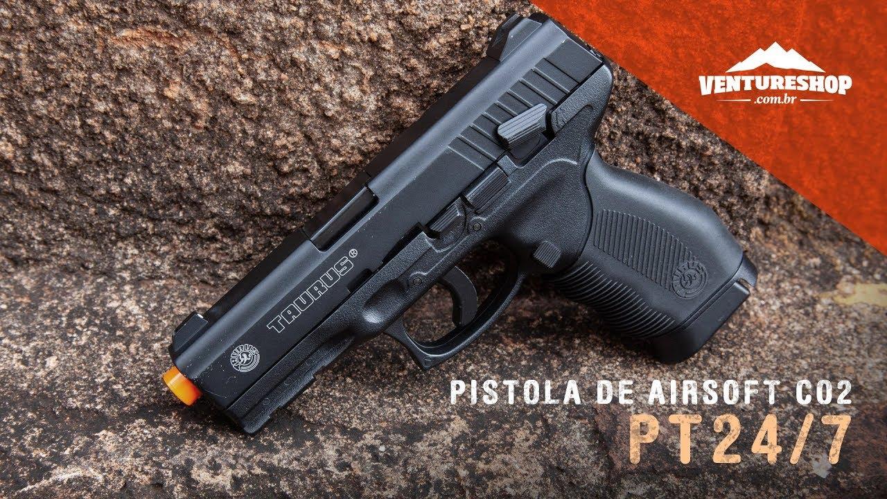 Test Cybergun PT24 / 7 CO2 Gaz Pistolet Airsoft – VentureShop
