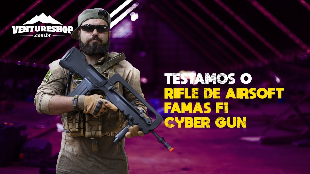 Test de performance du fusil Cyber Gun Airsoft AEG FAMAS F1 – Revue VentureShop