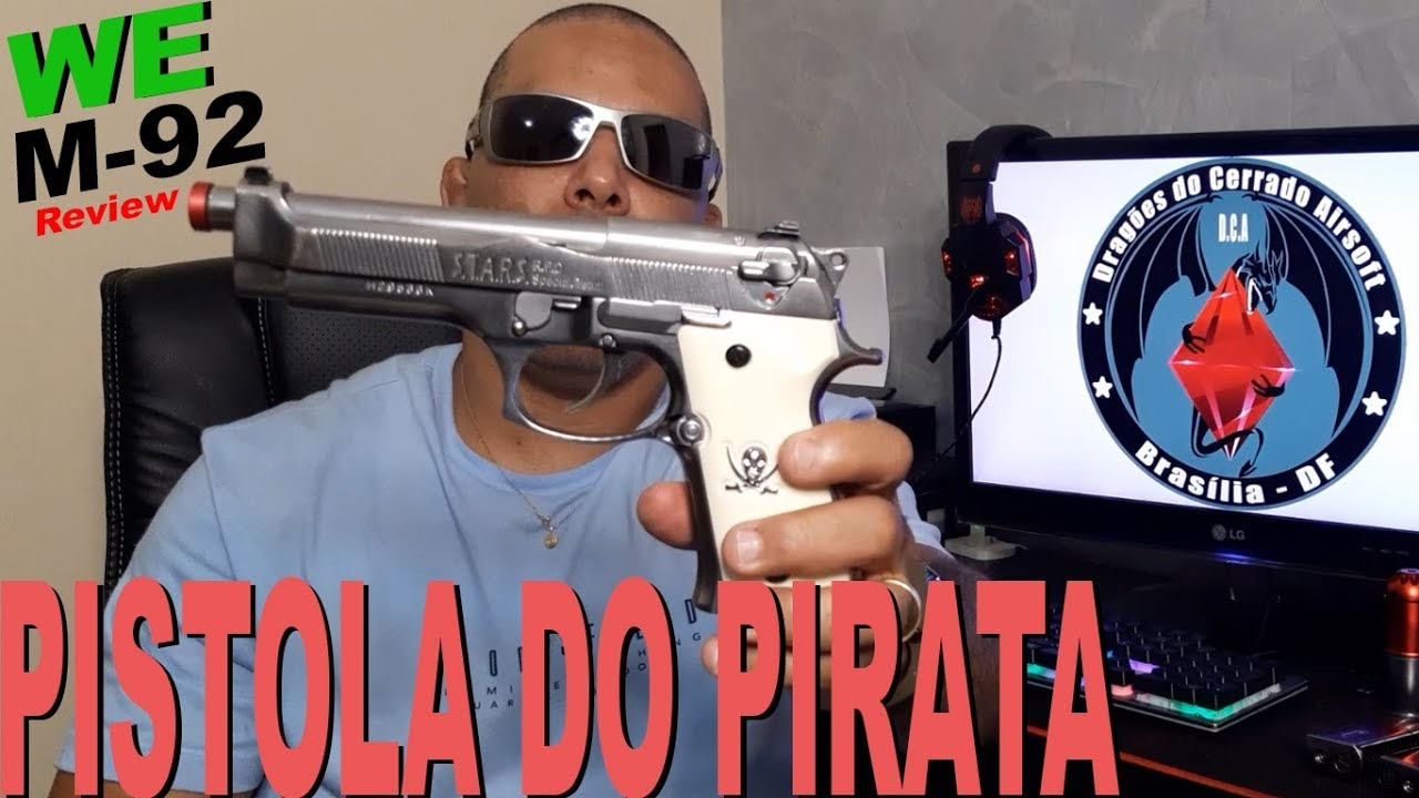 """AIRSOFT – Pistolet Pirate """"REVIEW"""" GBB WE M-92"""