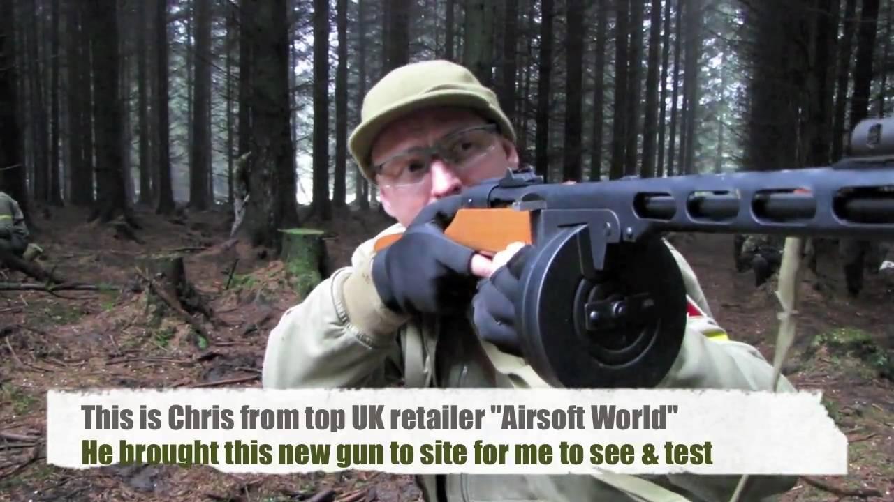 Airsoft PPSh-41 Scoutthedoggie obtient le premier essai au Royaume-Uni