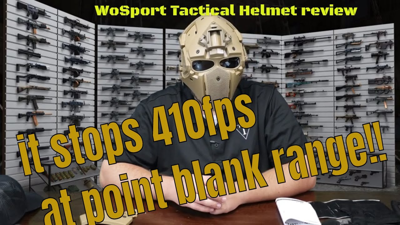 Casque WoSport Tactical TriFecta Airsoft 101