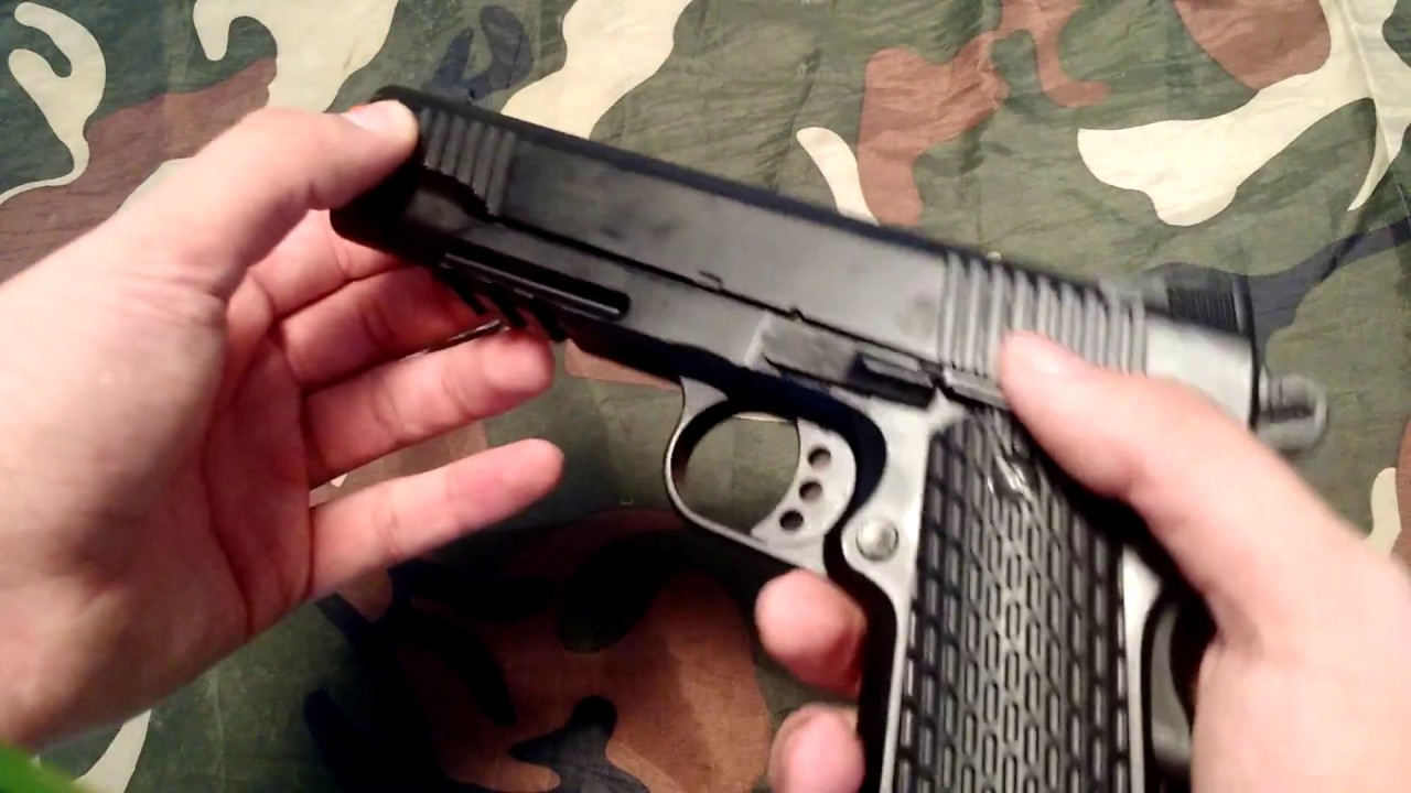 Unboxing / Review Airsoft Spring Model 1911m291 FullMetal Pistol