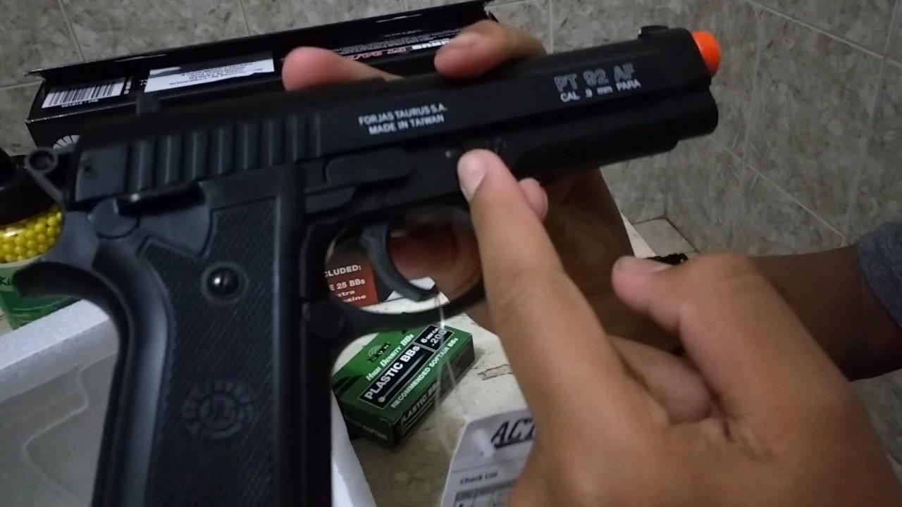 Pistolet Taurus PT92 Airsoft Ressort À Glissière À Ressort Carbone World