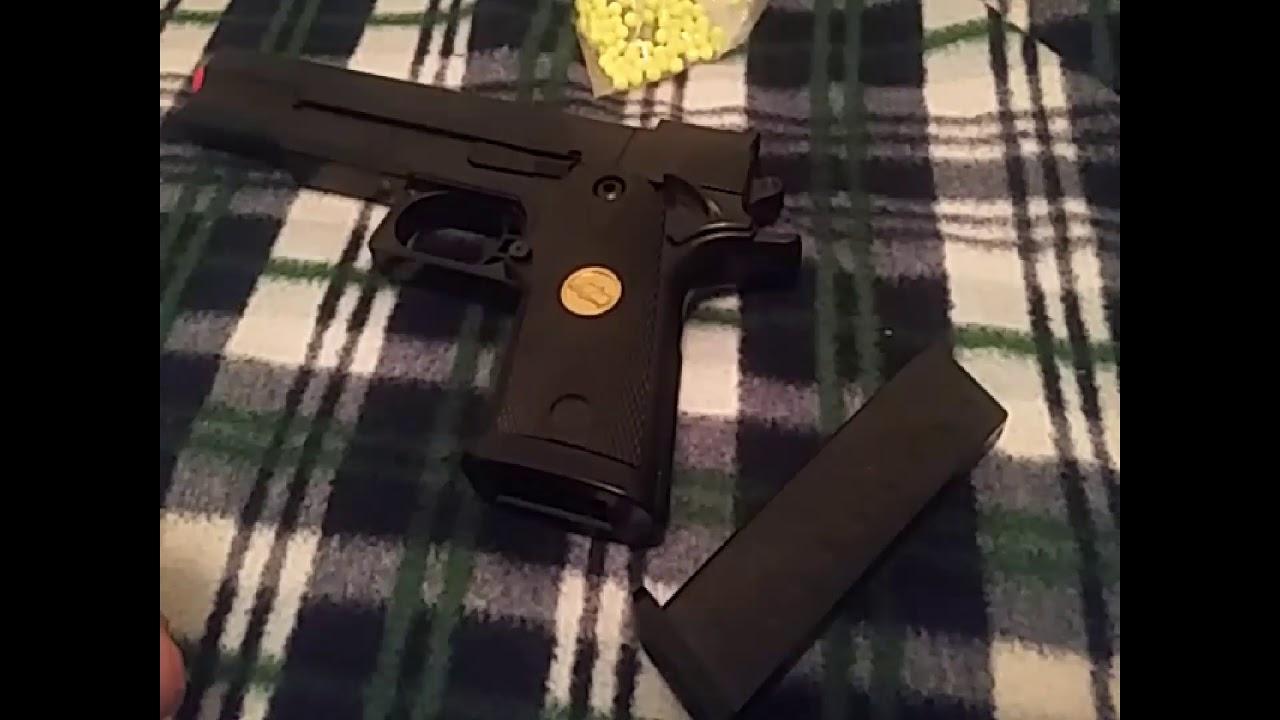 Test du pistolet Double Eagle P.169 Airsoft et tir d'essai