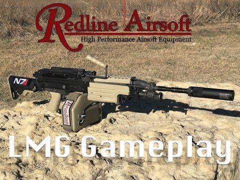 Redline Airsoft M249 LMG Gameplay