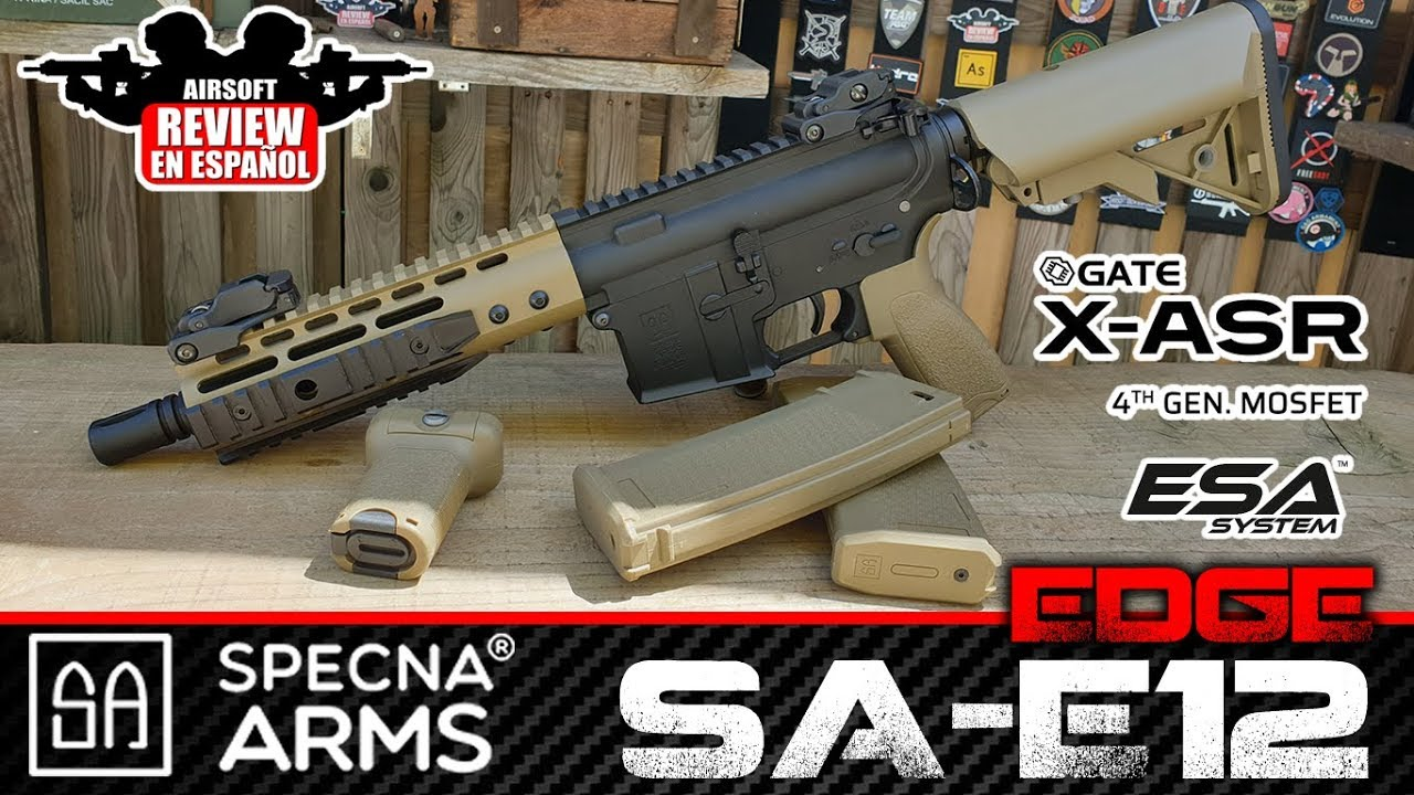 SPECNA ARMS GATE DE MOSFET BORD SAGE-E12 AEG + GAMEPLAY   Airsoft Review en espagnol