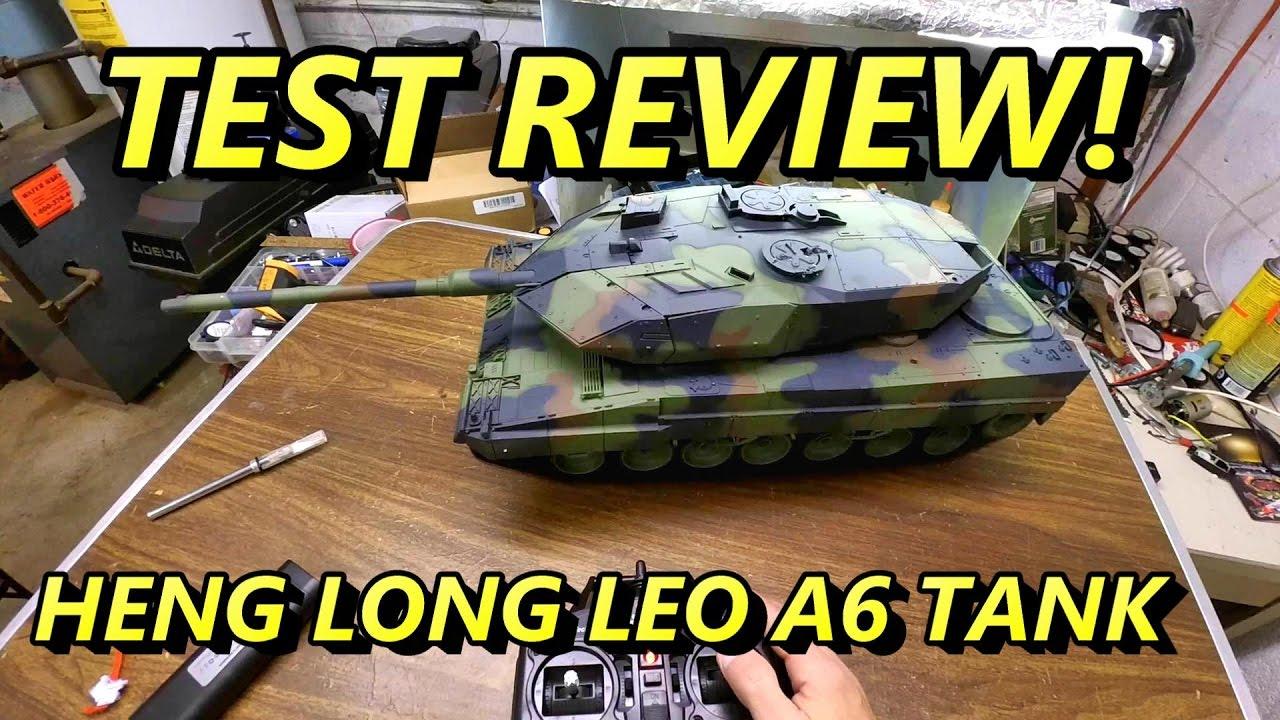 Heng Long léopard 2A6 test de char de combat airsoft