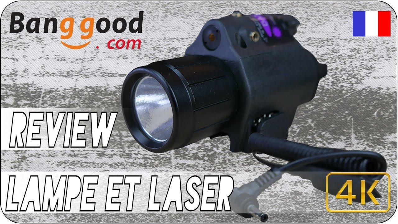 Airsoft Review 4K FR – Lampe avec laser – BangGood
