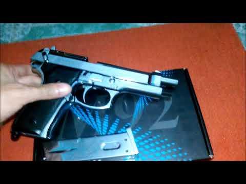 JR Beretta M92FS 6mm Airsoft Pistolet à air entièrement en argent ThaiSound Review