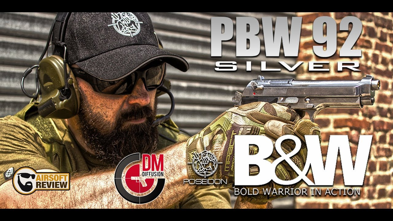[ ENG SUB ] PBW 92S / B&W / POSEIDON # DM DIFFFUSION / AIRSOFT REVIEW