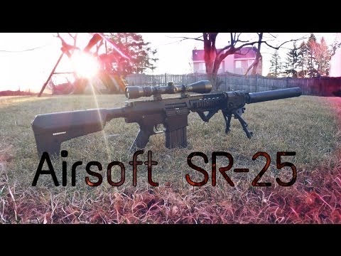 Airsoft A & K SR-25 REVUE, CHRONO, TEST DE TIR