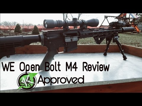 Airsoft WE Open Bolt M4 Revue / Tir GBB * ATHLETE AIRSOFT APPROUVE *