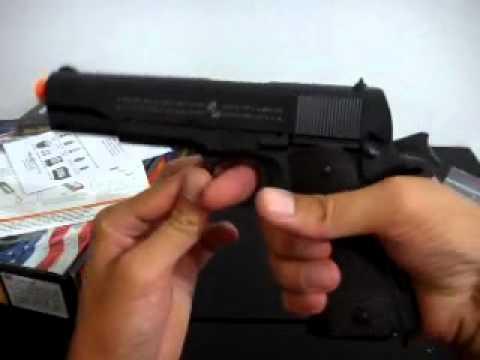 Pistolet blowback Colt 1911 airsoft 6mm GBB entièrement en métal