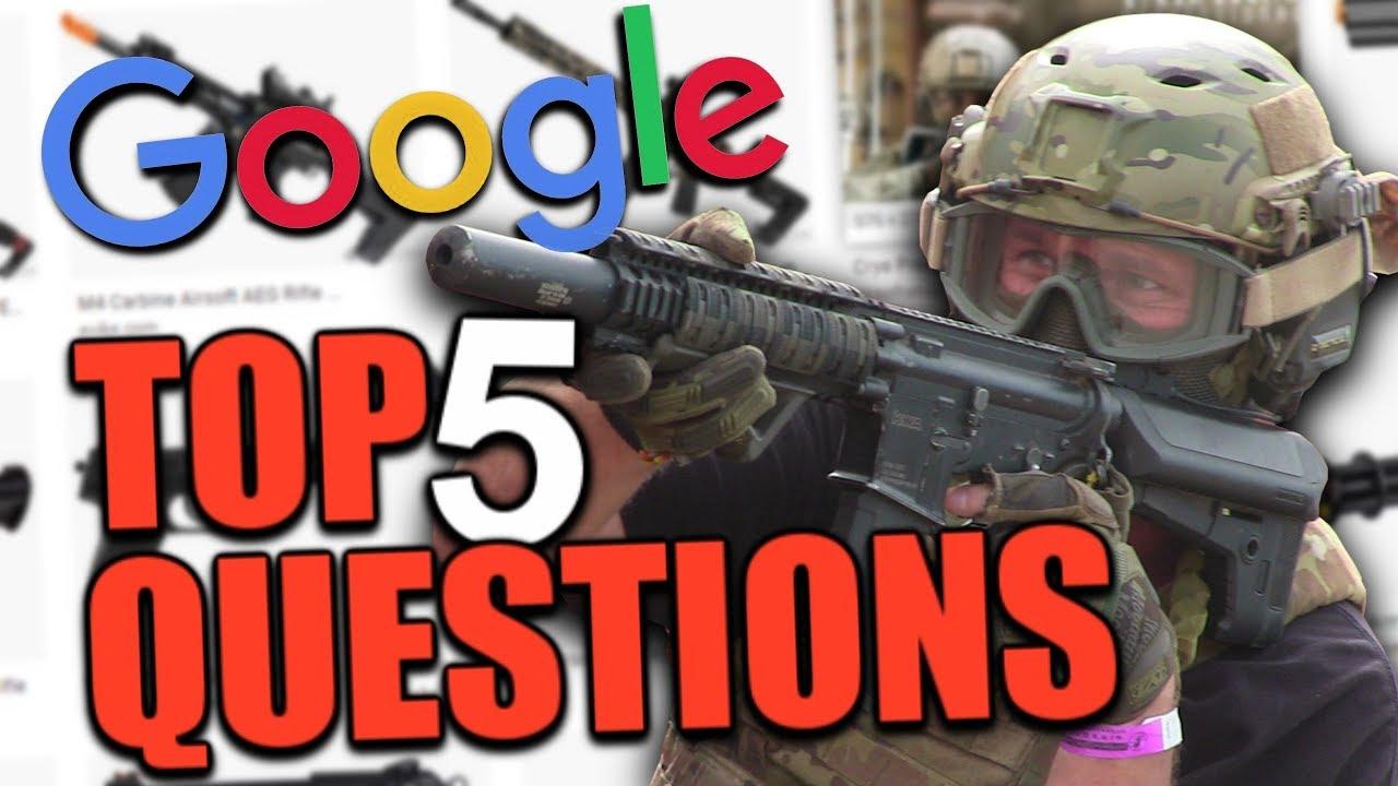 Top 5 des questions que les gens se posent sur Airsoft selon Google
