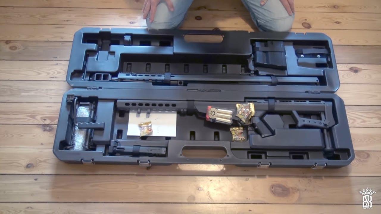 Socom Gear Barrett M107 GBB CO2 Airsoft Unboxing – Sous-titres Anglais