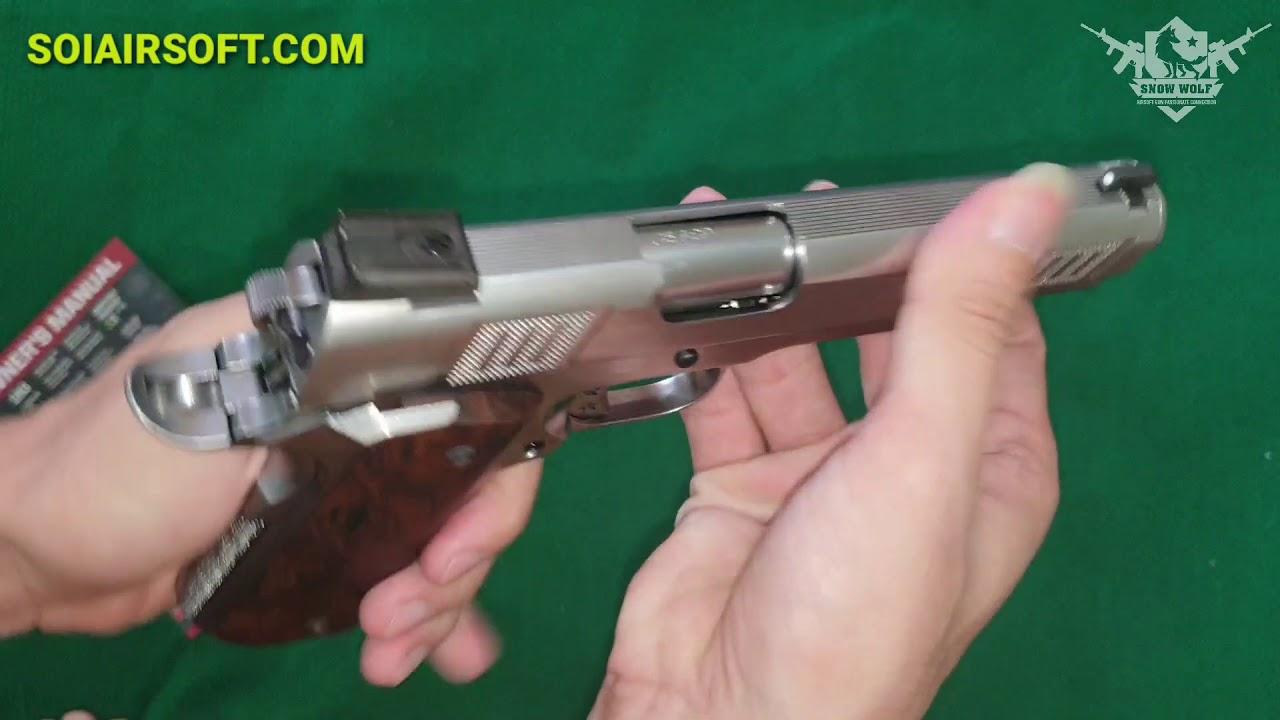 SOIAIRSOFT.COM – Modèle M1911 Iconiq Style (NE3001) AW Custom Airsoft milieu de gamme
