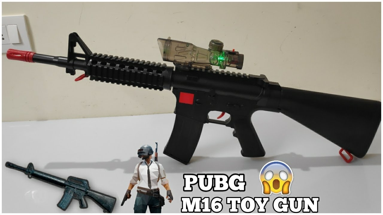 Pubg M16 Toy Gun Unboxing   Jouets De Pub