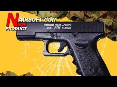 Pistolet airsoft (acier), pistolet airsoft, pistolet, pistolet airsoft, ressort, pistolet manuel airsoft pistolet glock15