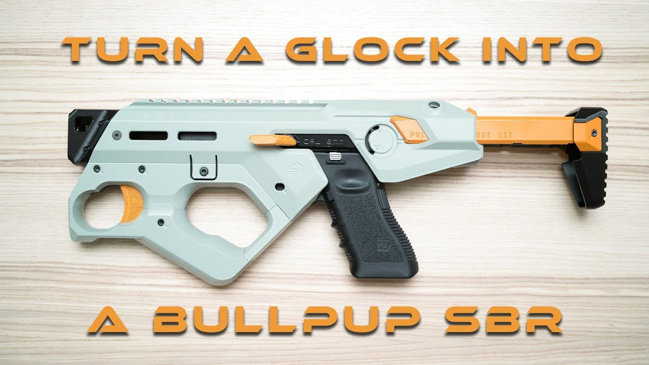 Kit de conversion Bullpup GumoDesign pour la démonstration du montage Airsoft Glock