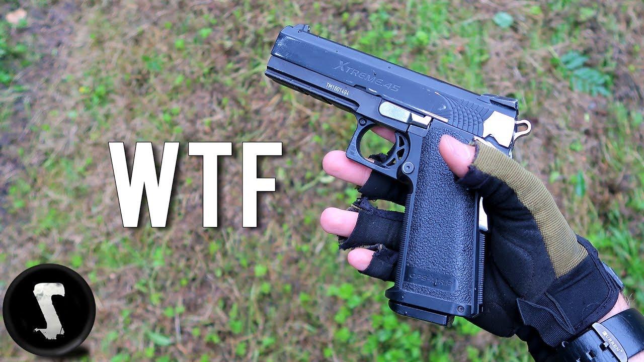 Vous n'avez jamais vu un pistolet Airsoft comme celui-ci (pistolet à 1500 tours / minute)