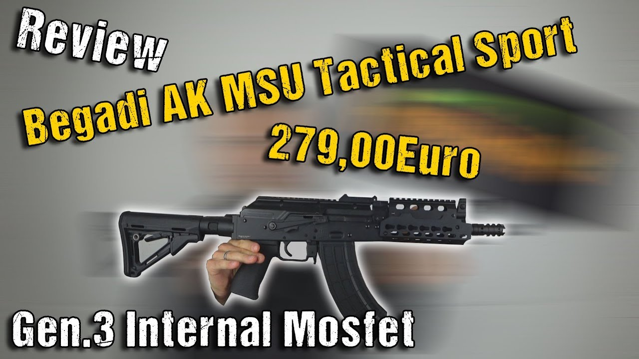 "Begadi AK MSU Tactical Sport ""Mosset Interne Gen.3"" S-AEG 