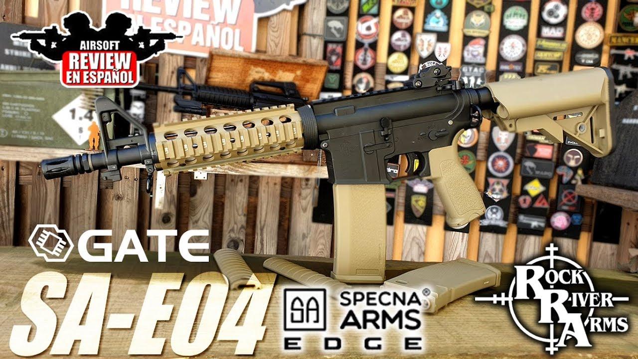 SPECNA ARMS SA-E04 EDGE + Gomme Oméga et feuille d'érable | Airsoft Review en espagnol
