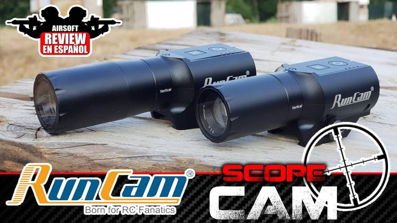 RUN CAM SCOPE CAM + TEST SHOT | Airsoft Review en espagnol