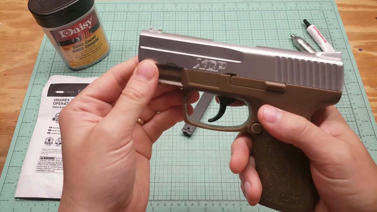 Umarex XCP pistolet bb Revue Pistolet Co2 bb pistolet et examen complet