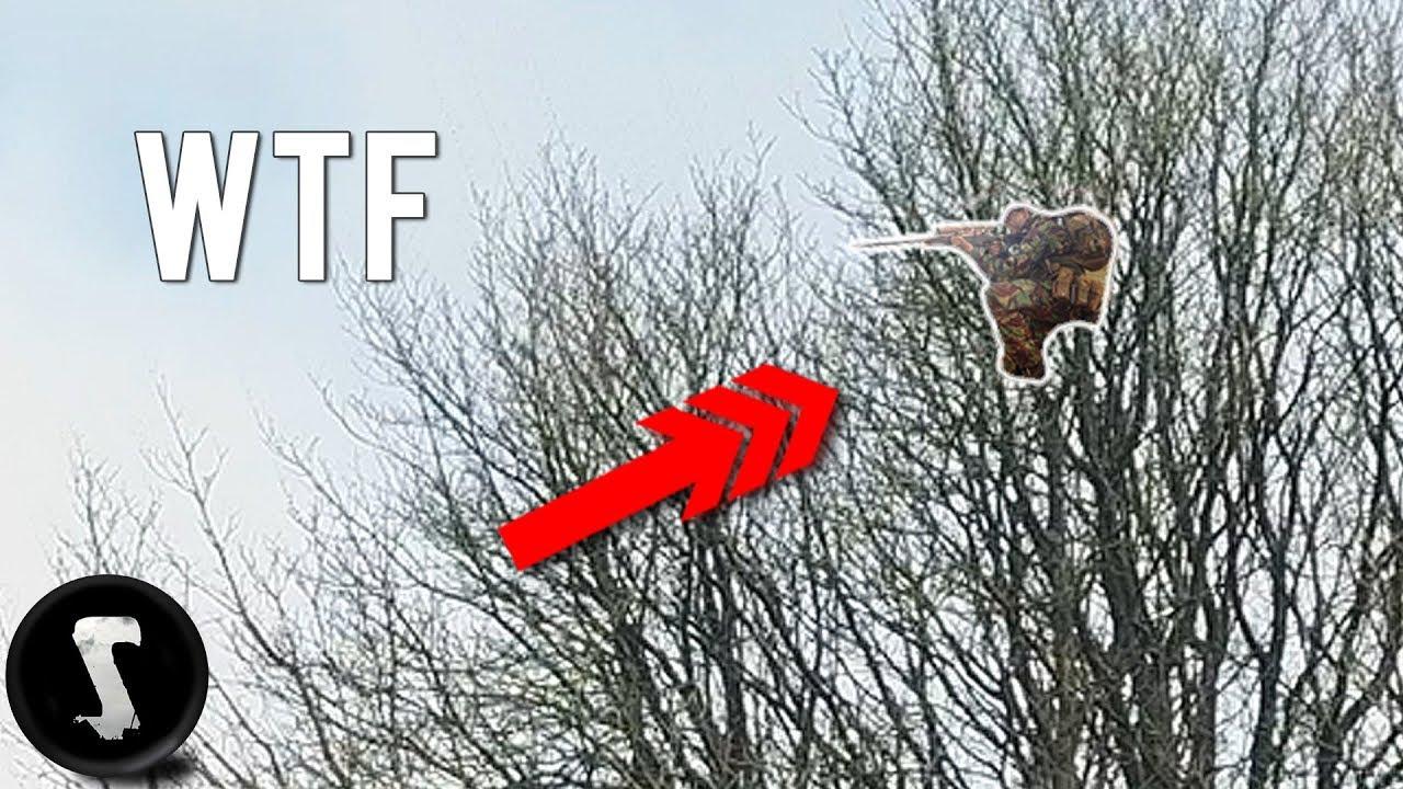 Airsoft Sniper se cache dans les arbres et détruit tout le monde. (42 pieds / 14 mètres de haut)