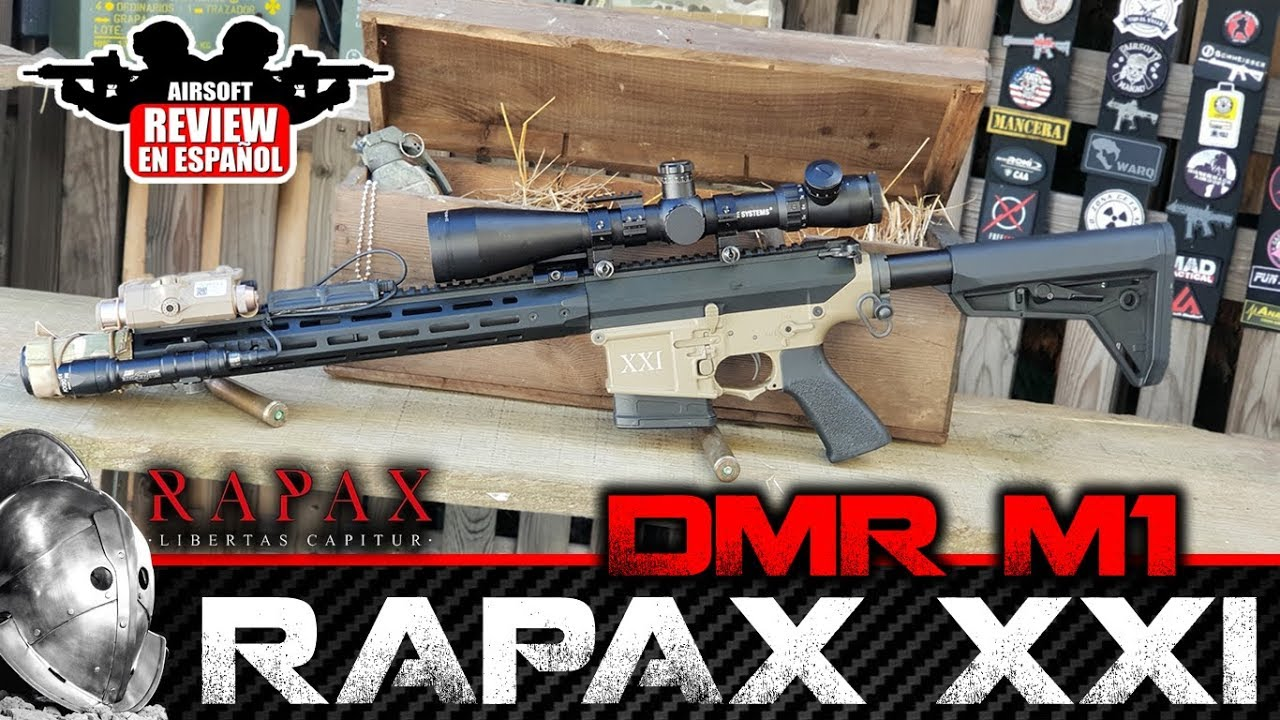 RAPAX M1 XXI DMR REVUE SECUTOR | Revue Airsoft en espagnol (Test Shot & Chrono)