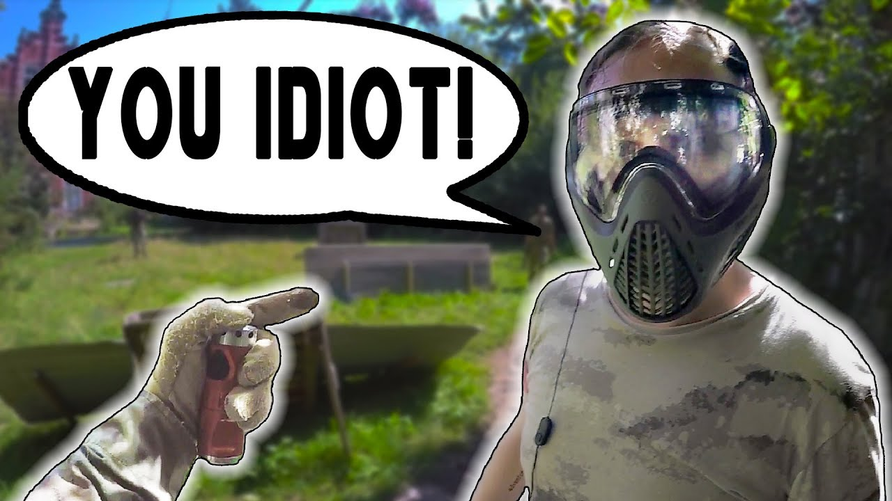 Mec obtient la colère se faire tirer dans la tête! (Airsoft Fight)