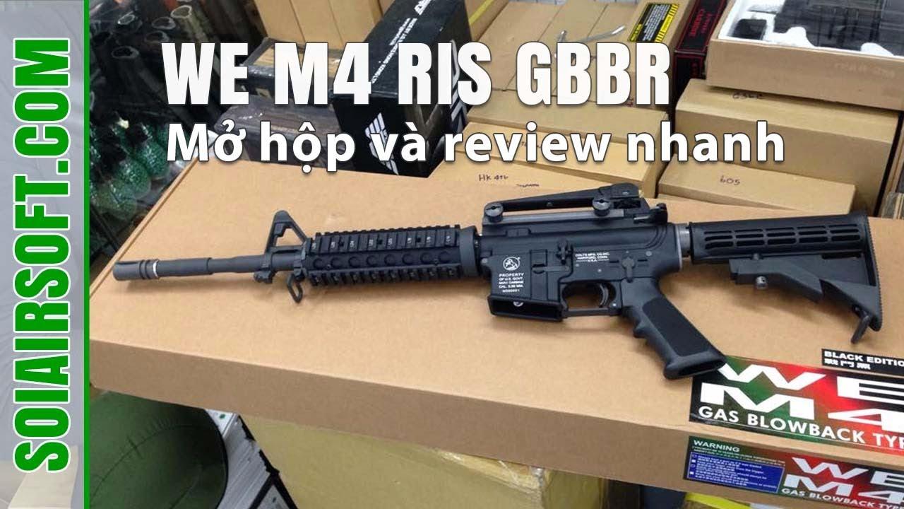 SOIAIRSOFT.COM – WE M4 RIS GBBR haut de gamme airsoft