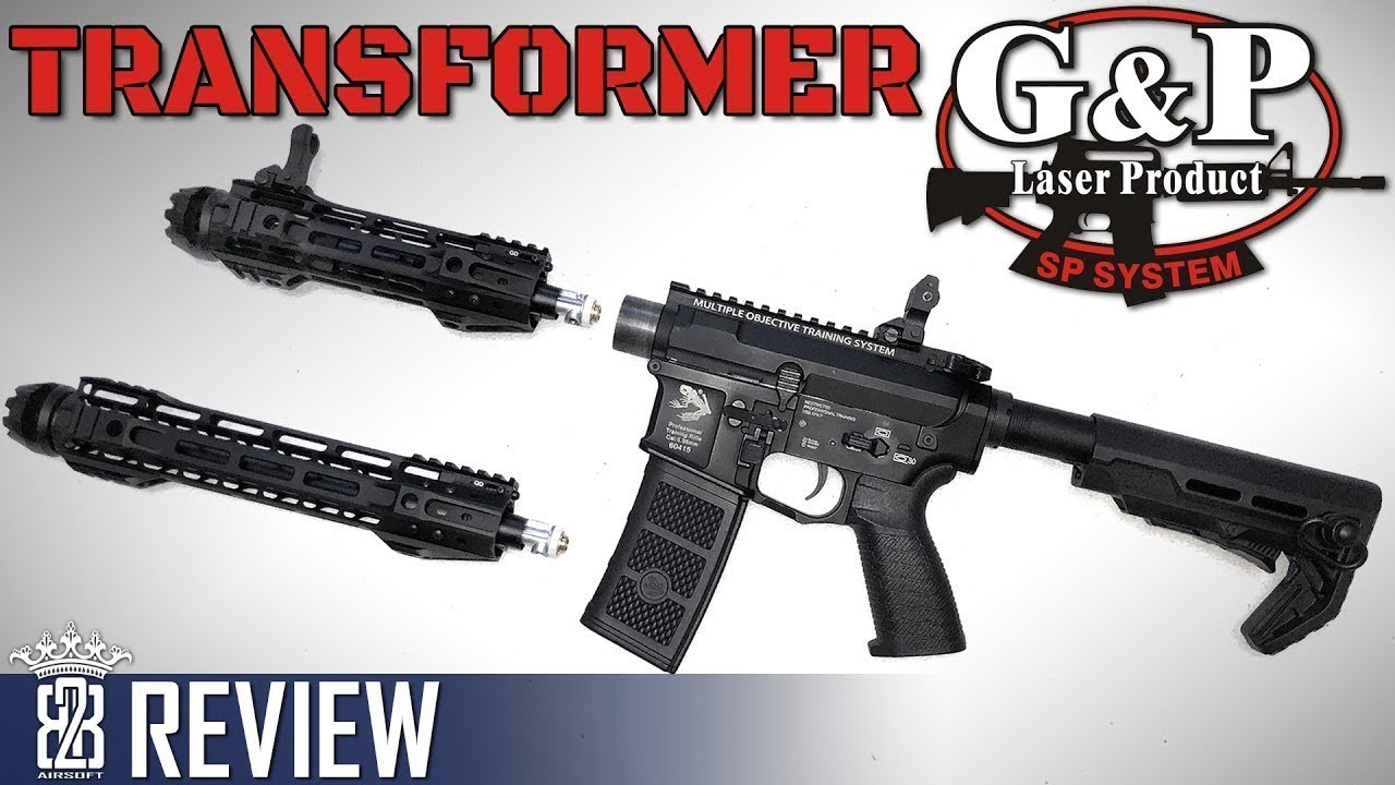 G & P Transformer M4 AEG Airsoft Review, Ensemble de freins QD avant et étui